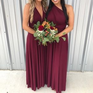 Lulus Burgundy Maxi Dress size medium